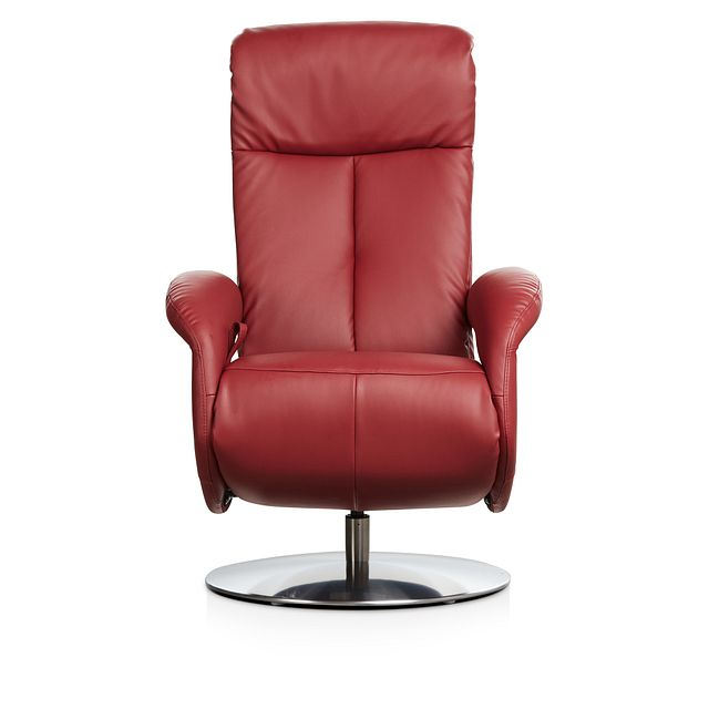 Lewis Red Micro Swivel Recliner