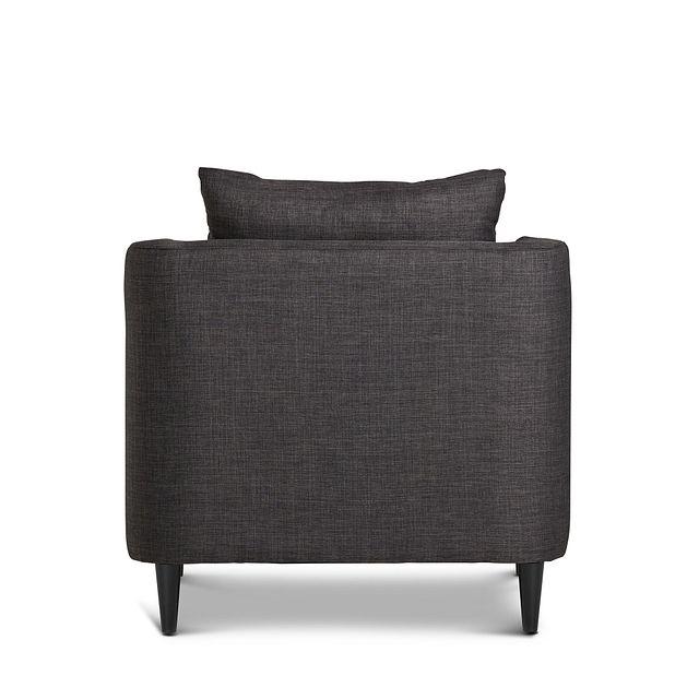 Novara Dark Gray Fabric Accent Chair (3)