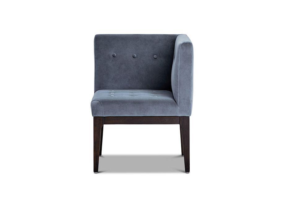 Reilly Light Gray Velvet Accent Chair