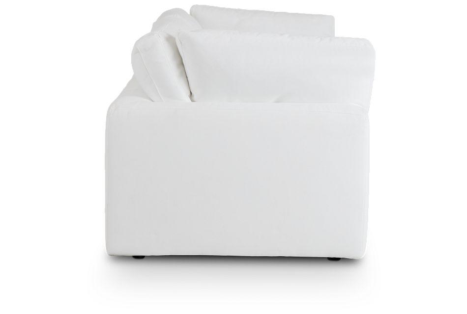 Grant White Fabric Sofa,  (3)
