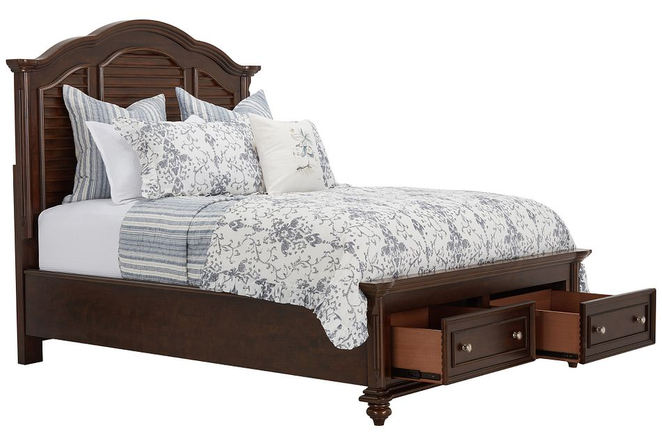 Savannah Dark Tone Mansion Storage Bed