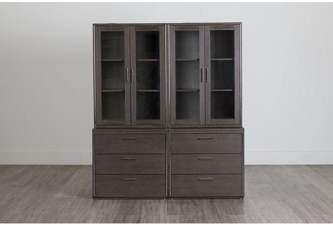 Highline Dark Tone Drawer Bookcase