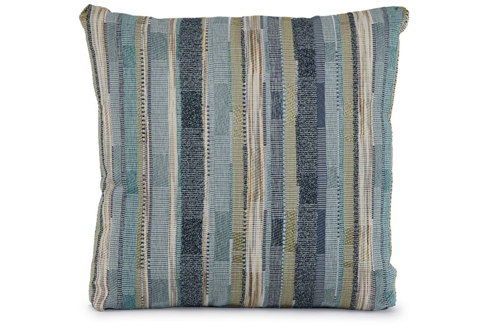 """Forbode Blue Fabric 18"""" Accent Pillow,  (1)"""