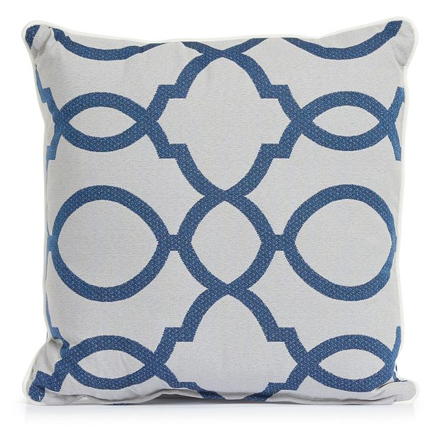 """Clover Blue 18"""" Indoor/outdoor Square Accent Pillow (0)"""