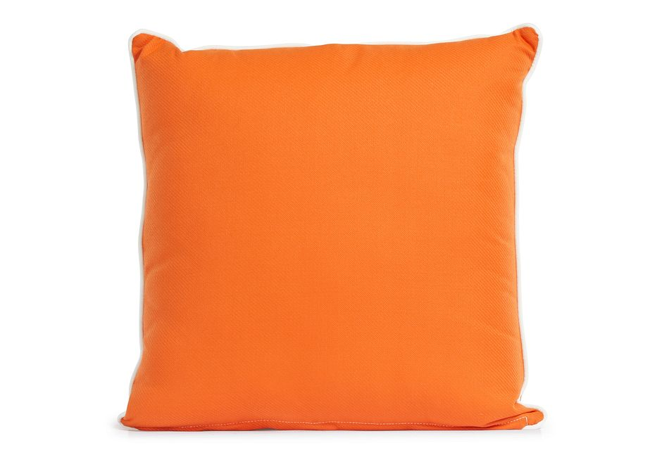 "Forest Orange 20"" Indoor/outdoor Square Accent Pillow"