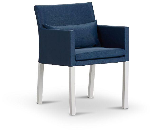 Lisbon Navy Cushioned Chair (0)