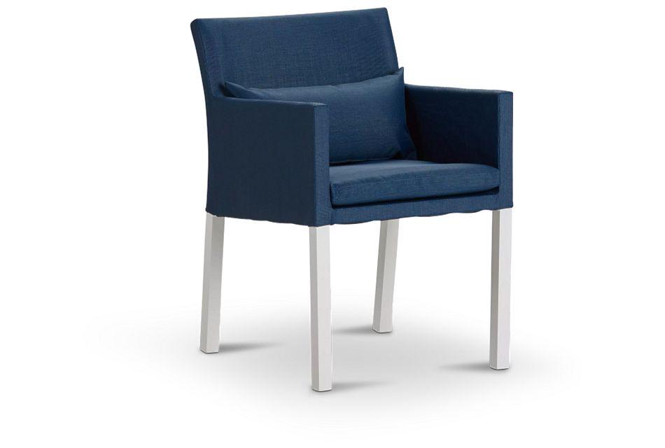 Lisbon Navy Cushioned Chair