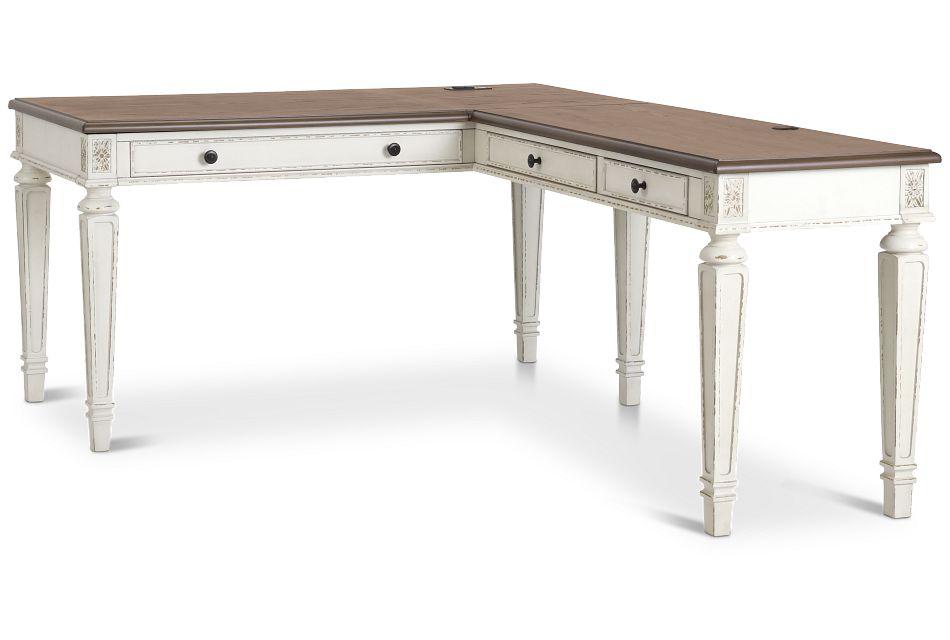 Realyn2 Two-Tone Lift-Top Return Desk,  (2)