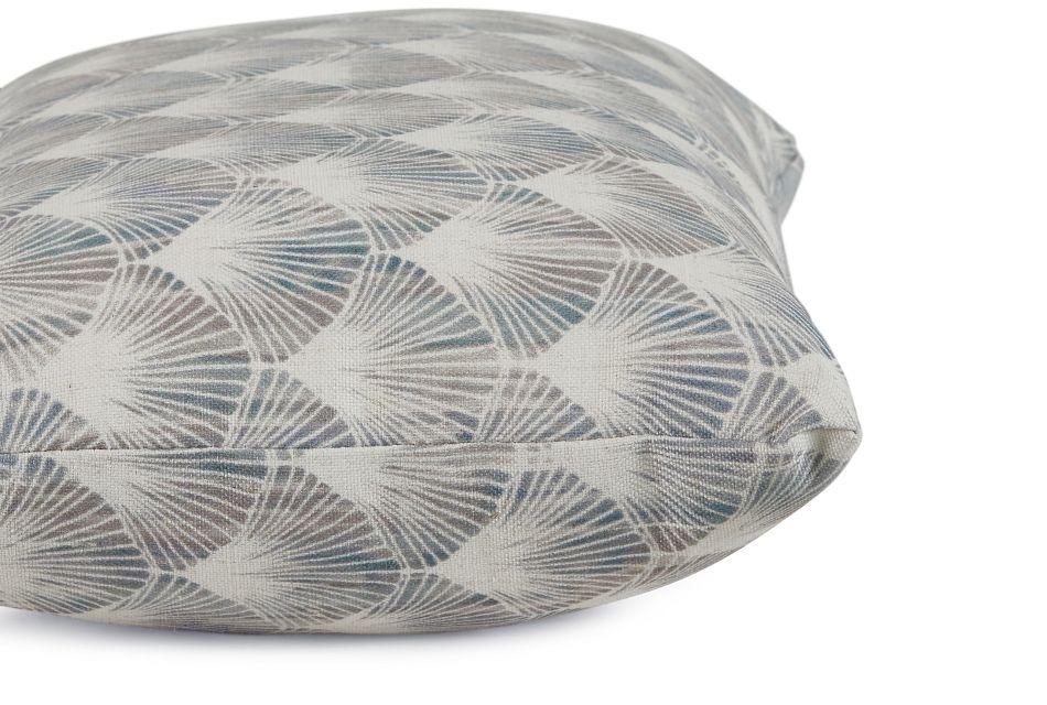 Shell Green Fabric Lumbar Accent Pillow,  (2)