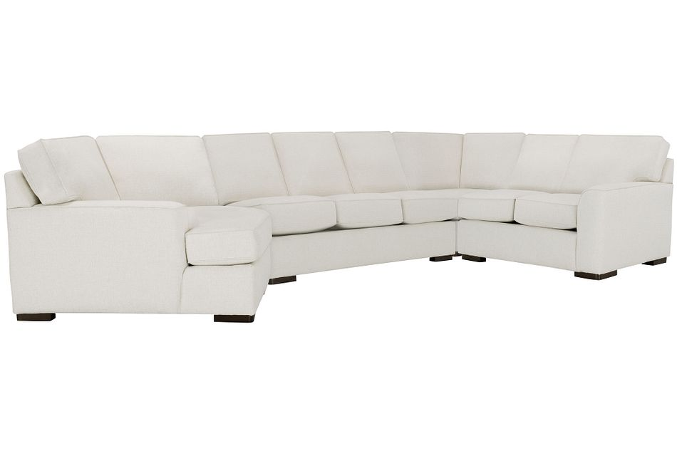 Austin White Fabric Left Cuddler Innerspring Sleeper Sectional
