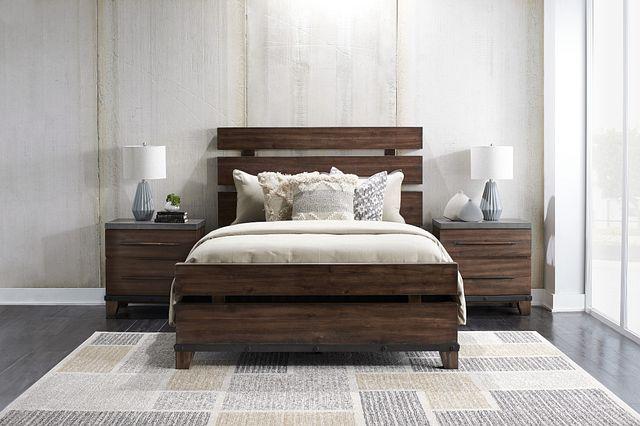 Forge Dark Tone Panel Bed (1)