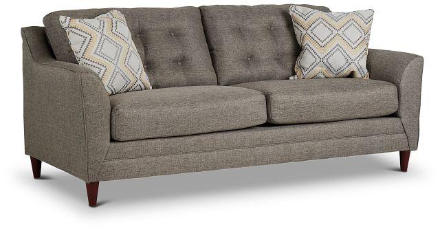 Jensen Dark Gray Fabric Sofa (2)