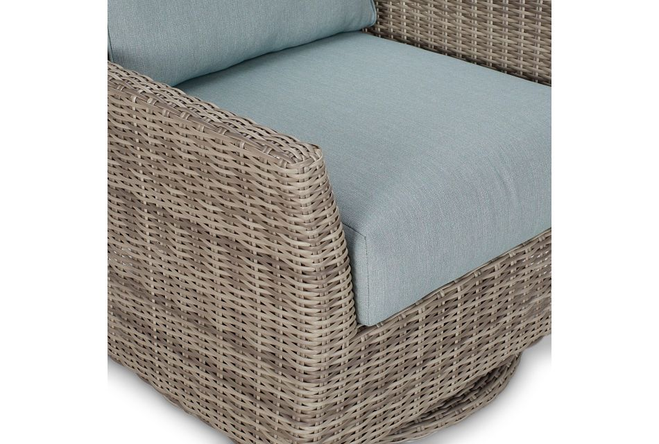 Raleigh Teal Swivel Chair
