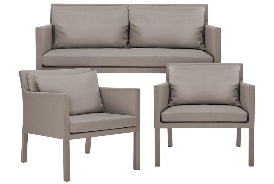 Lisbon2 Khaki Outdoor Living Room Set