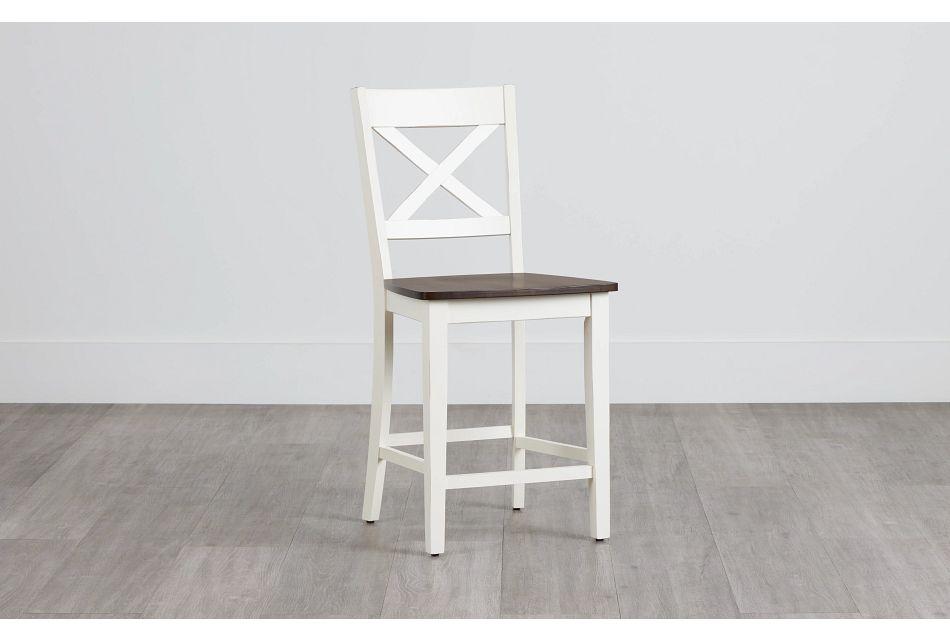 "Sumter White 24"" Wood Barstool,  (0)"