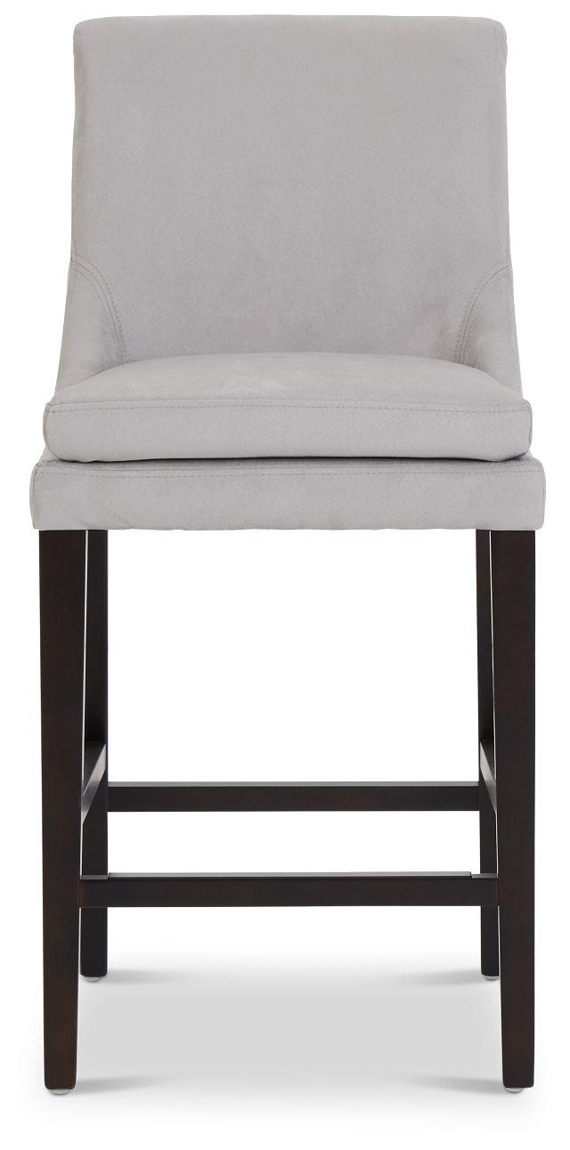 """Tito Light Gray 24"""" Upholstered Barstool (3)"""
