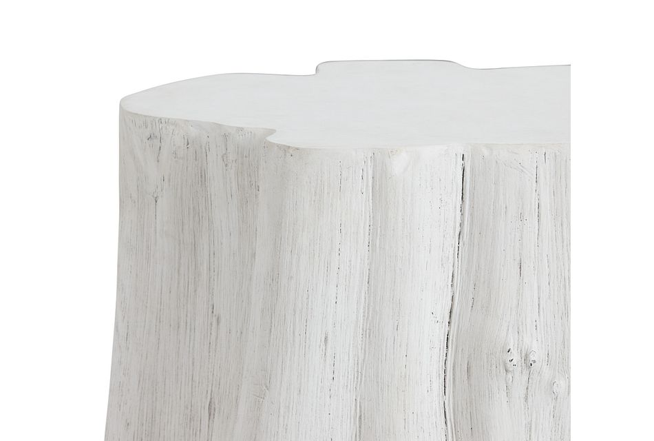 Ocean Drive White Wood End Table