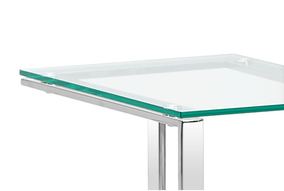 Arco Clear Glass Chairside Table