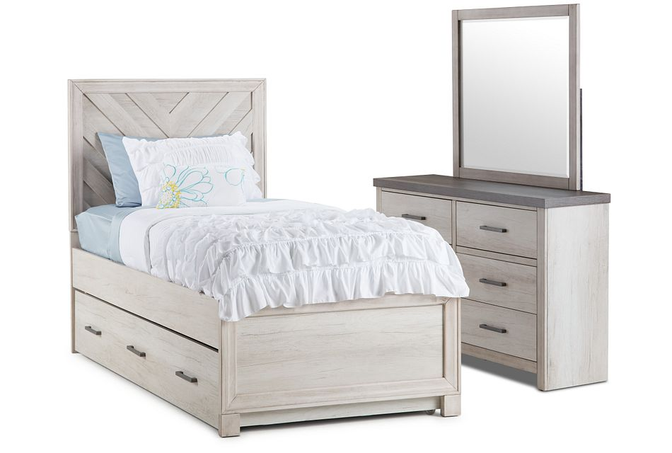 Casper Light Tone Panel Trundle Bedroom