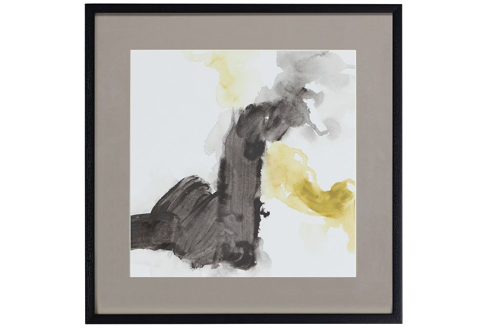 Tinge Yellow Framed Wall Art