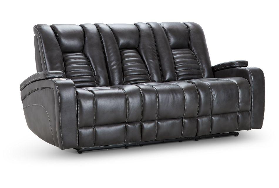 Nexus Gray Micro Power Reclining Sofa, %%bed_Size%% (2)