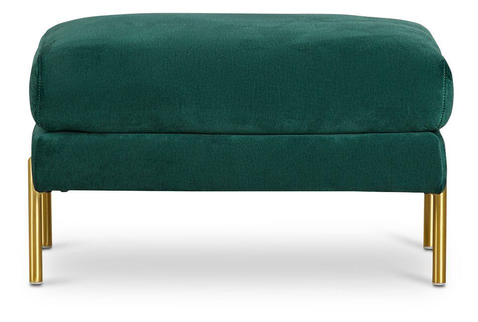 Bella Dark Green Velvet Ottoman