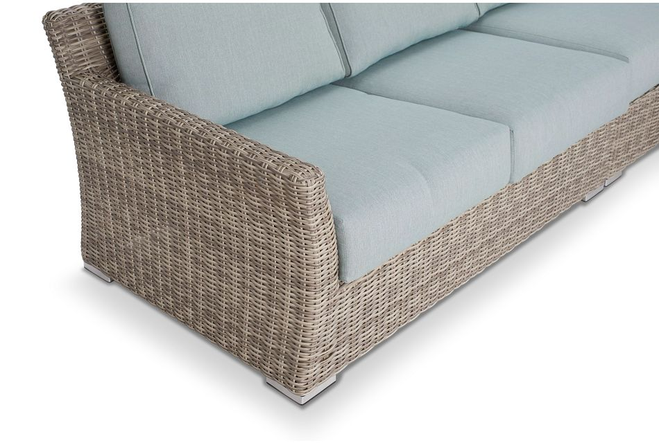Raleigh Teal Woven Large Two-arm Sectional