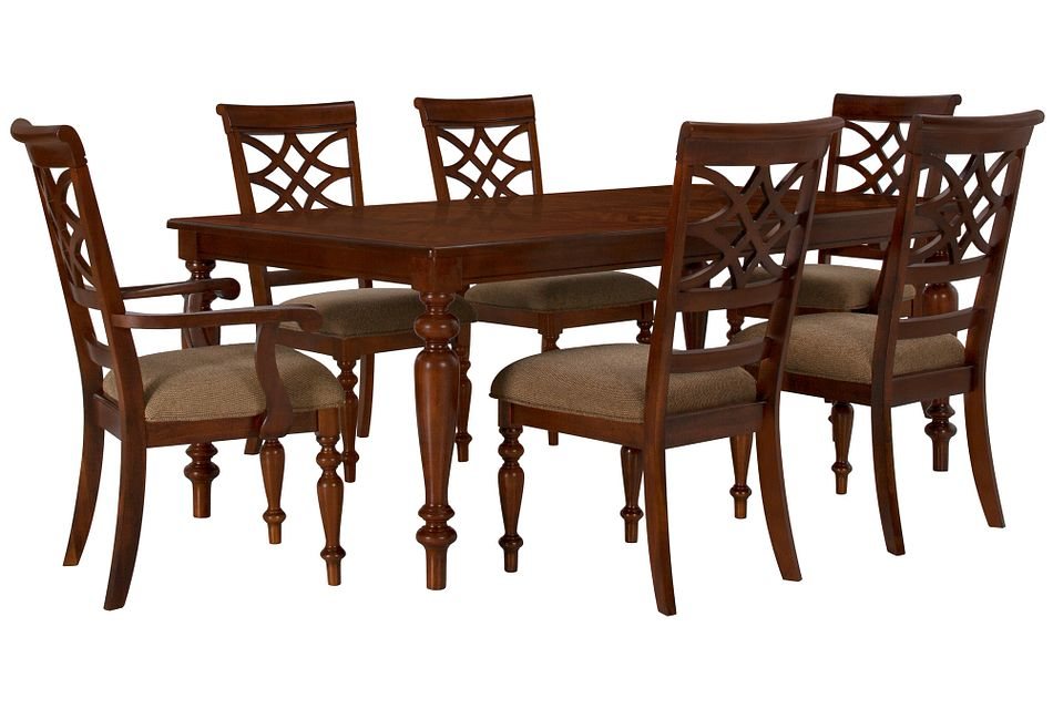 Oxford Mid Tone Rect Table & 4 Wood Chairs,  (0)