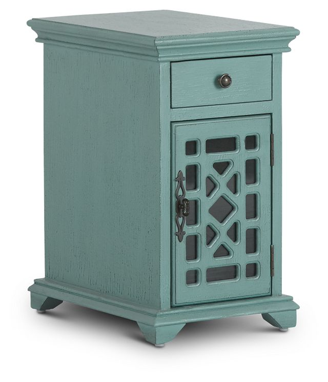 Alexis Teal Small Cabinet (2)