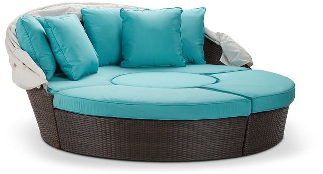 Fina Dark Teal Canopy Daybed (2)