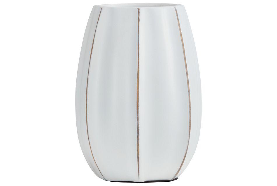 Reed White Vase