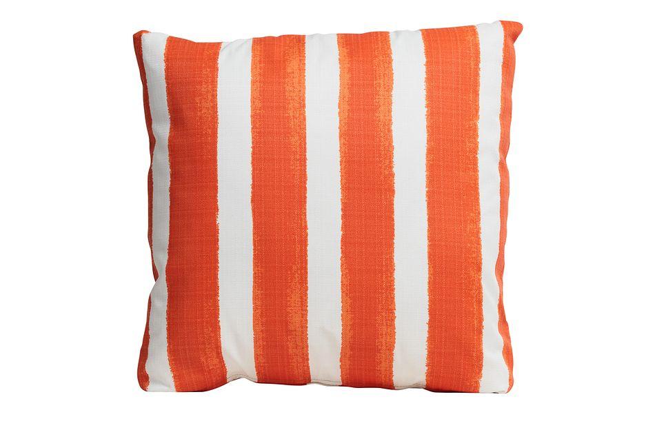 """Nico Orange 20"""" Indoor/outdoor Accent Pillow"""