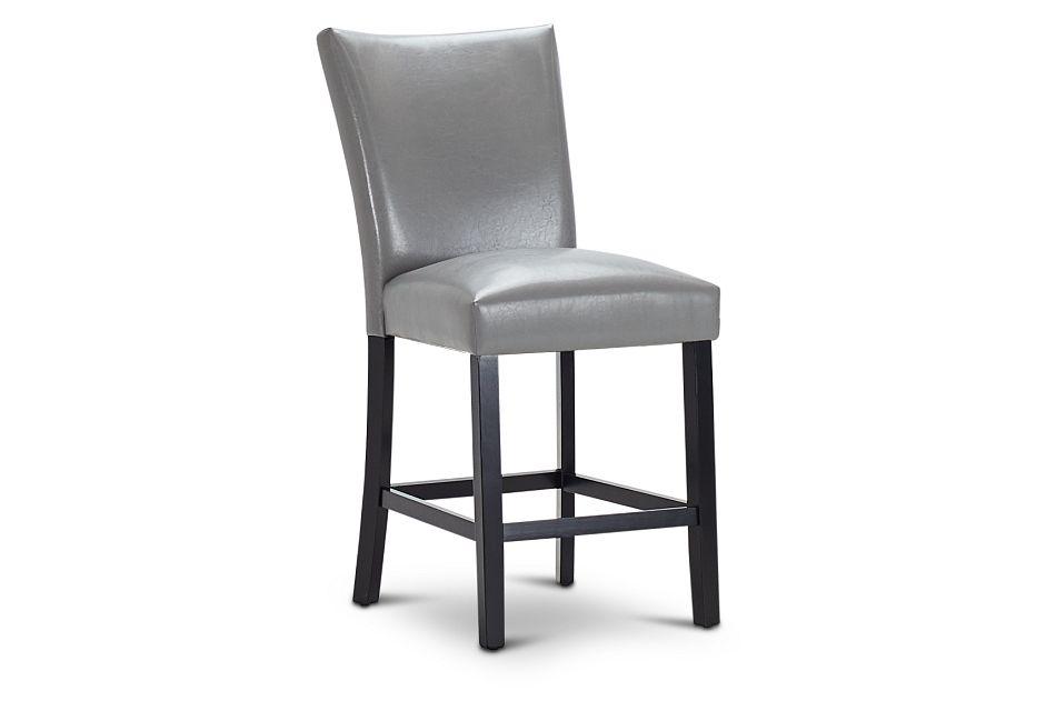 """Auburn Gray 24"""" Upholstered Barstool, %%bed_Size%% (1)"""