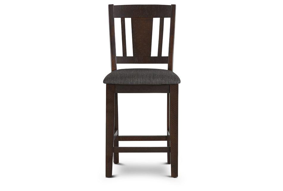 """Cash Gray 24"""" Upholstered Barstool,  (3)"""