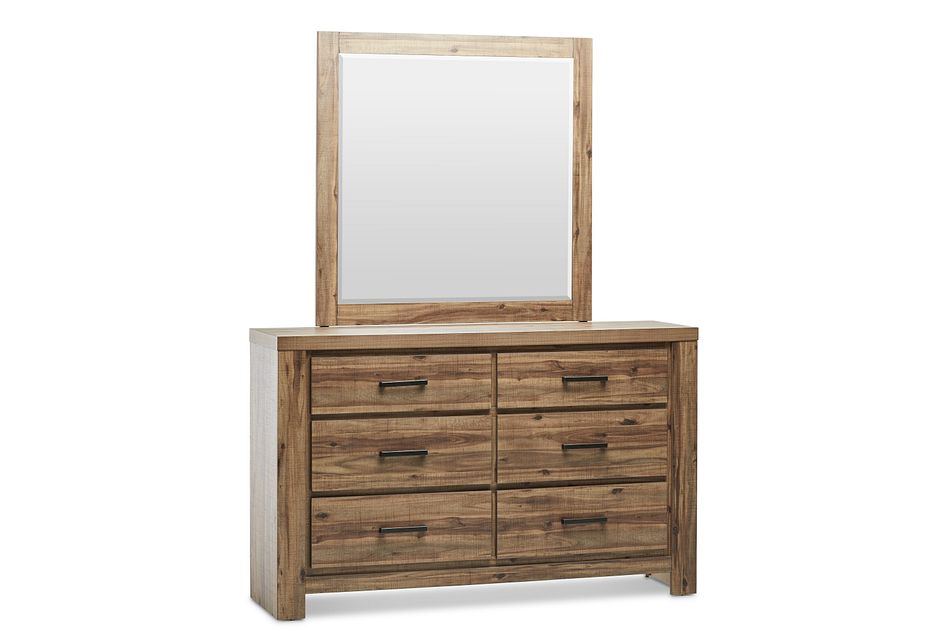 Forest Light Tone Dresser & Mirror
