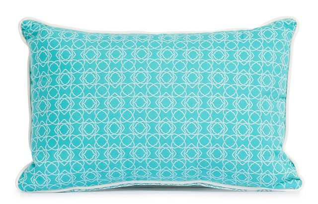 """Valley Aqua 13"""" Indoor/outdoor Rectangular Accent Pillow (1)"""