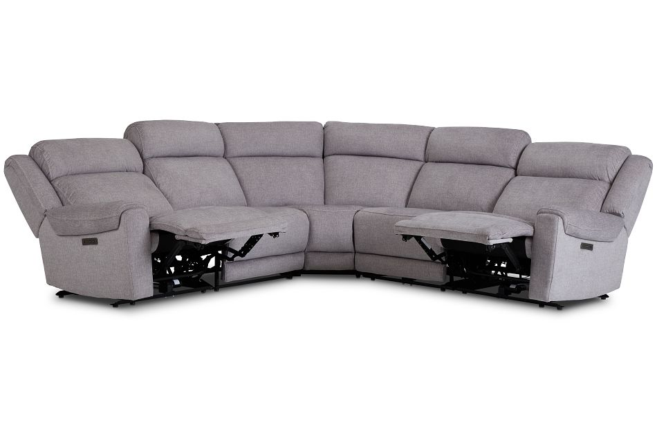 Beckett Gray Micro Small Two-Arm Power Reclining Sectional,  (3)