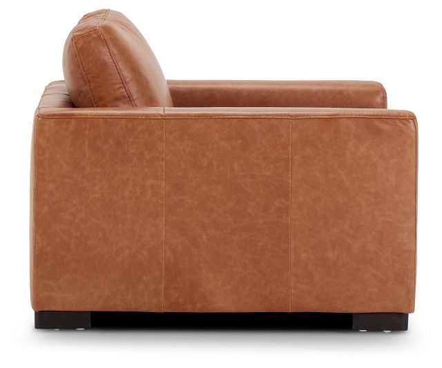 Bohan Brown Leather Chair (2)