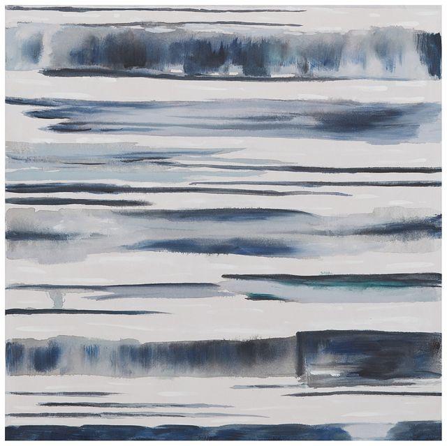 Aqua Dark Blue Framed Canvas Wall Art (0)