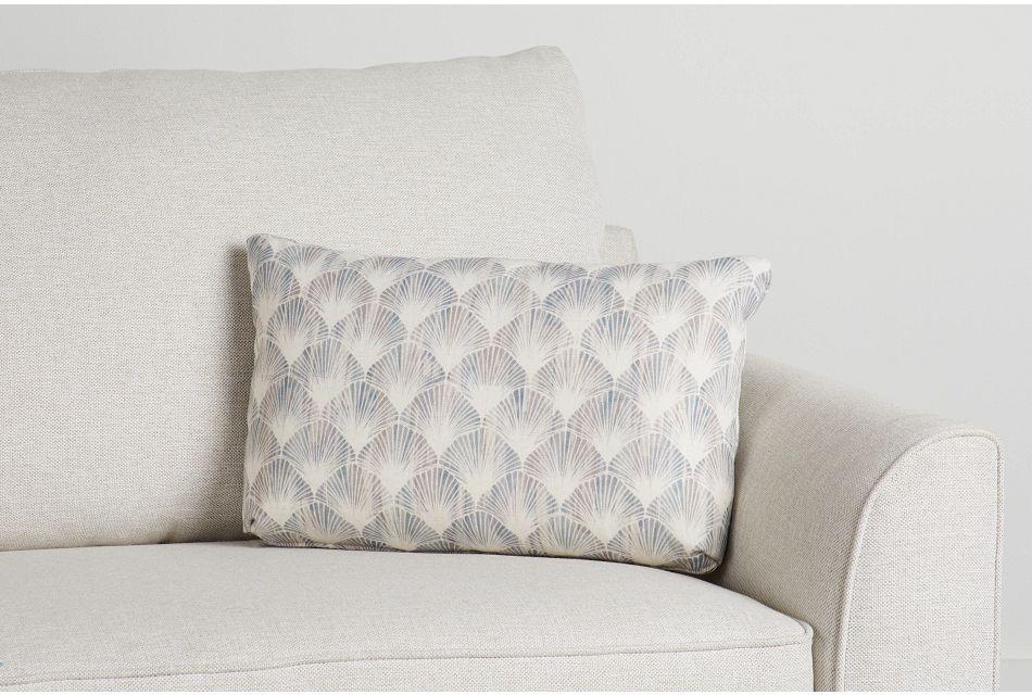 Shell Green Fabric Lumbar Accent Pillow,  (0)