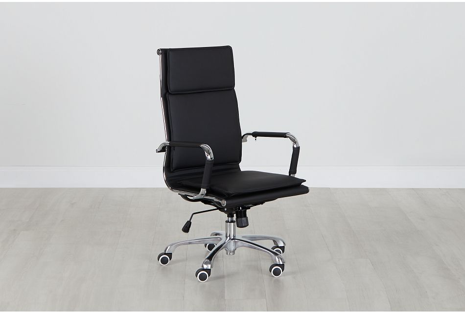 Arvada Black Uph Desk Chair, %%bed_Size%% (0)