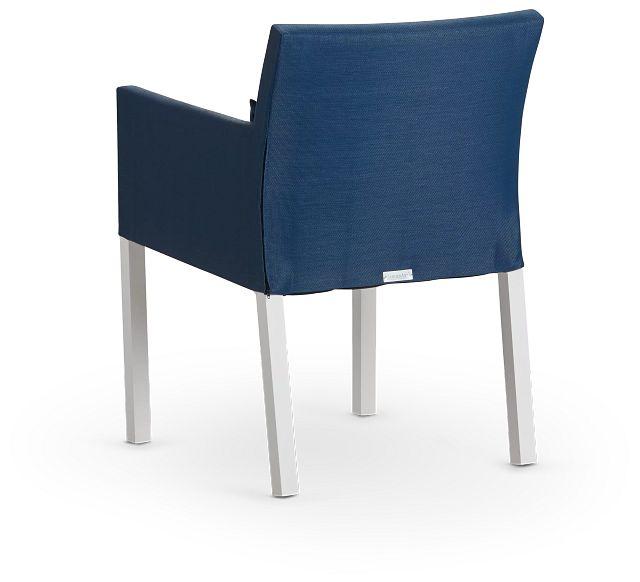 Lisbon Navy Cushioned Chair (3)