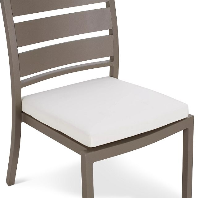 """Raleigh White 35"""" Square Table & 4 Cushioned Chairs"""
