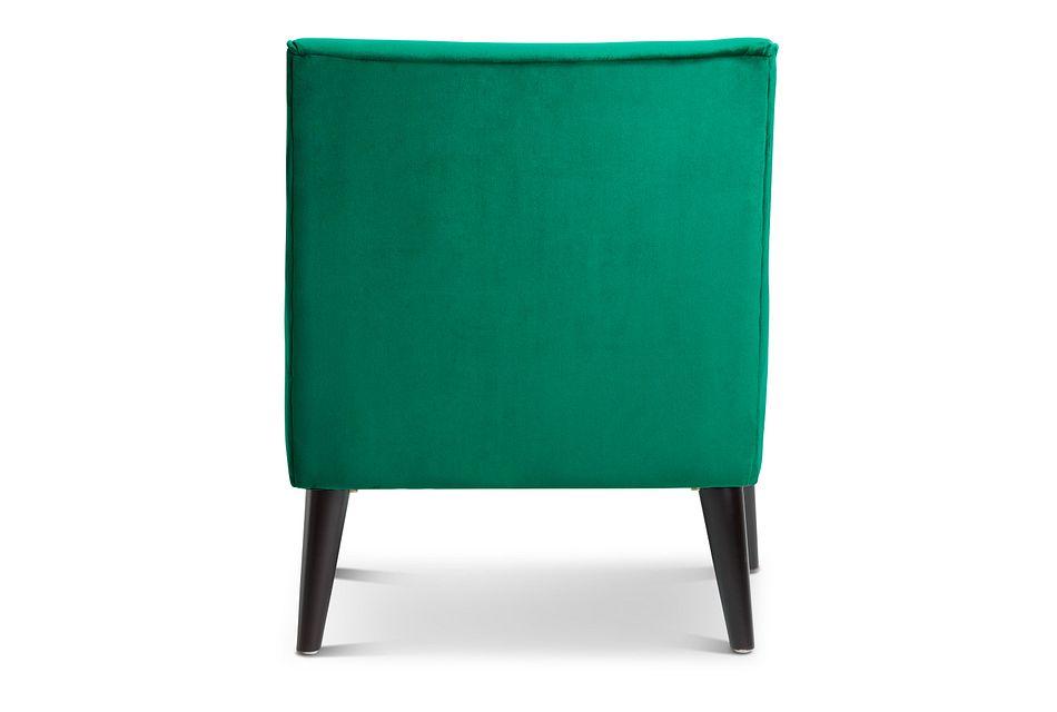 Angie Dark Green  Velvet Accent Chair,  (3)