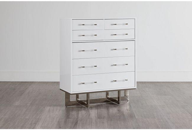 Cortina White Large Drawer Chest