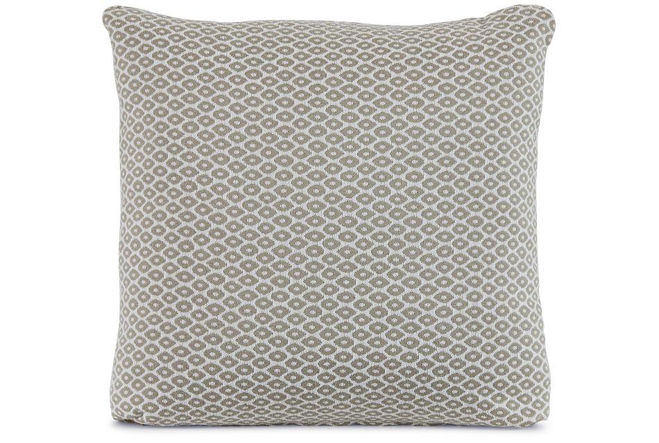 """Nimbus Beige Fabric 18"""" Accent Pillow,  (1)"""