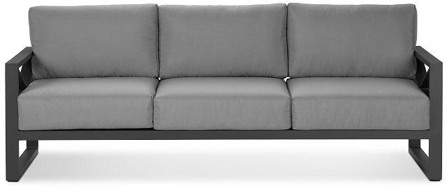 Linear Dark Gray Aluminum Sofa (0)