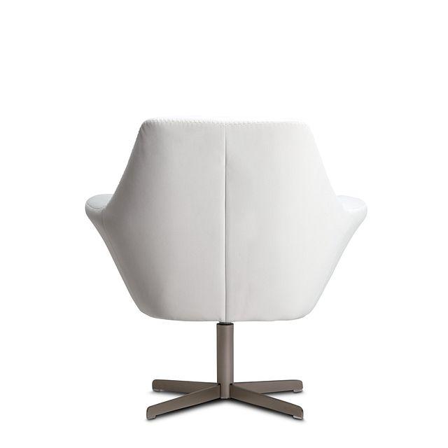 Xander Pewter Velvet Swivel Accent Chair