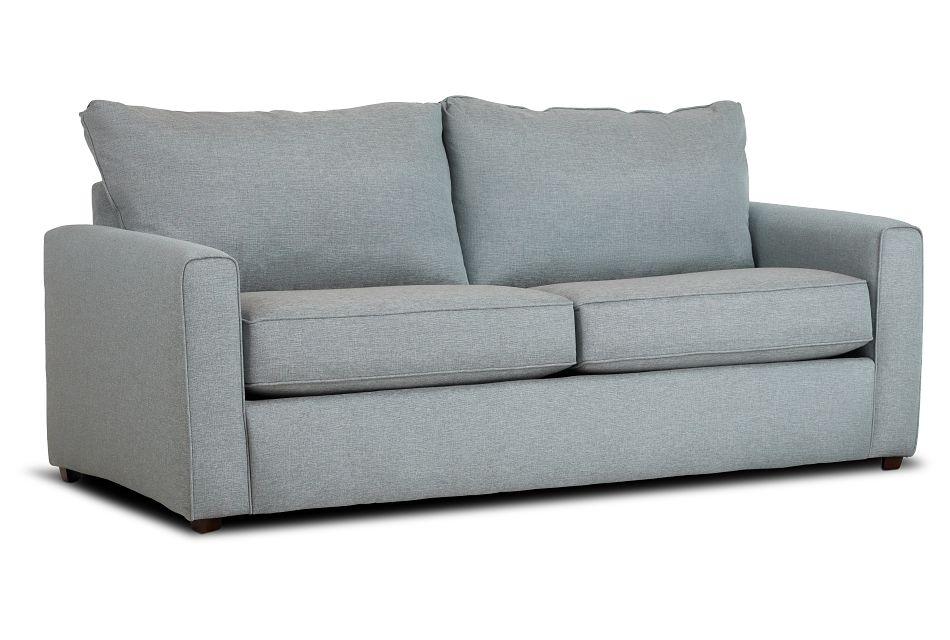 Ripley Light Blue Fabric Sofa,  (2)