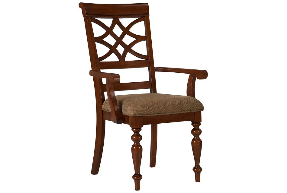 Oxford Mid Tone  Wood Arm Chair